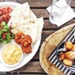 Mediterranean mezze platter and garlic dough ballsthe best!!!!  instafoodhellip