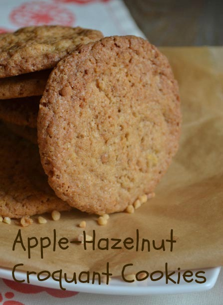 Apple-Hazelnut Croquant Cookies
