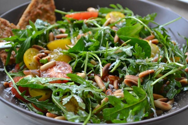 Arugula Salad with Toasted Pine Nuts Health Inspirations 3