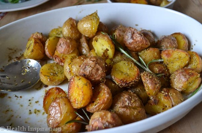 Rustic Rosemary Potatoes seasoned with rosemary salt healthinspirations.net
