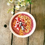 Acai Bowls with homemade granola and bee pollen Recipe ishellip