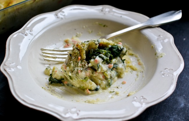 Spinach-Filled Pasta with Salmon Dill Sauce healthinspirations.net-4