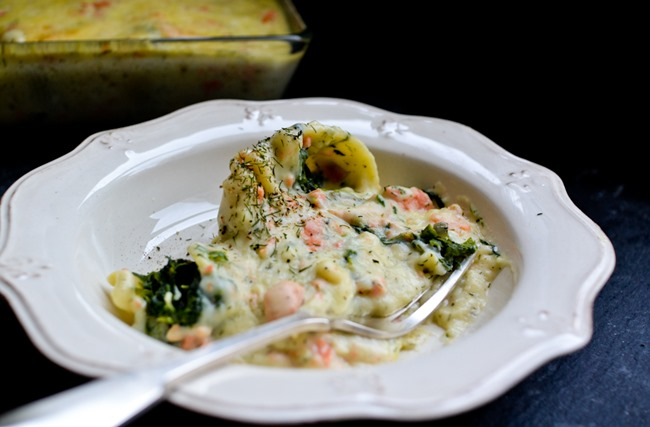 Spinach-Filled Pasta with Salmon Dill Sauce healthinspirations.net-5