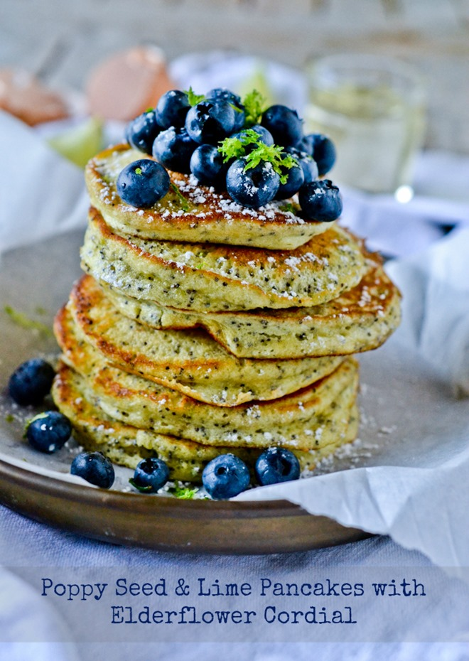 Almond Poppy Seed Pancakes with Almond Syrup - Cooking Classy