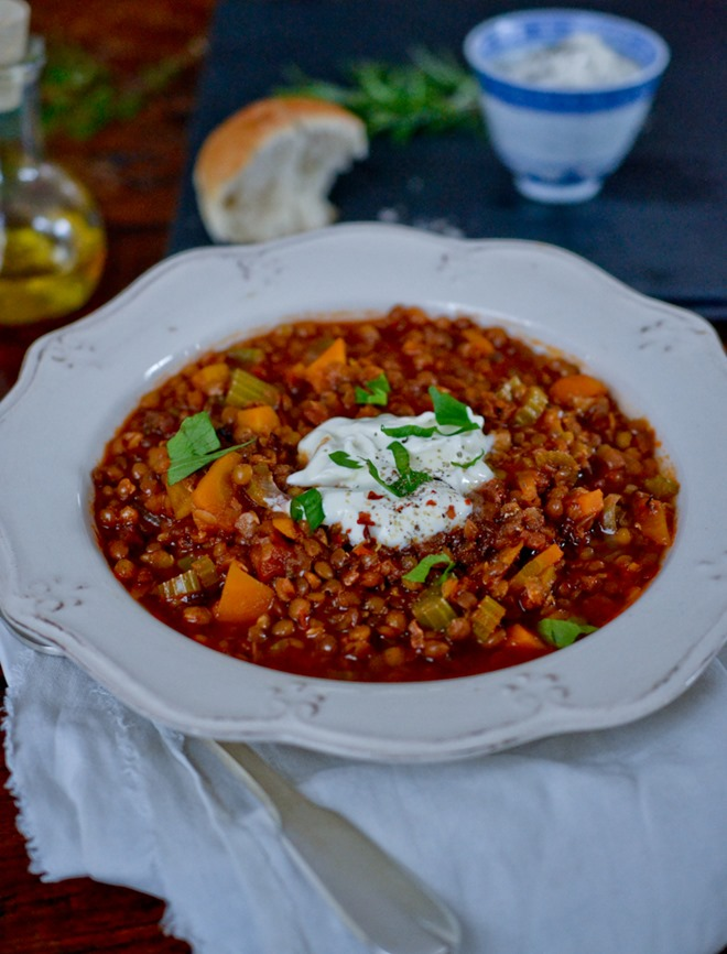 Lentil & Vegetable Stew {healthinspirations.net}