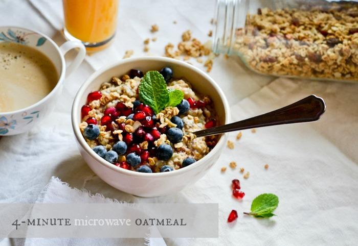 4-minute microwave oatmeal