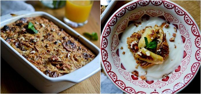 Caramelized Baked Banana-Pecan Oatmeal {healthinspirations.net}