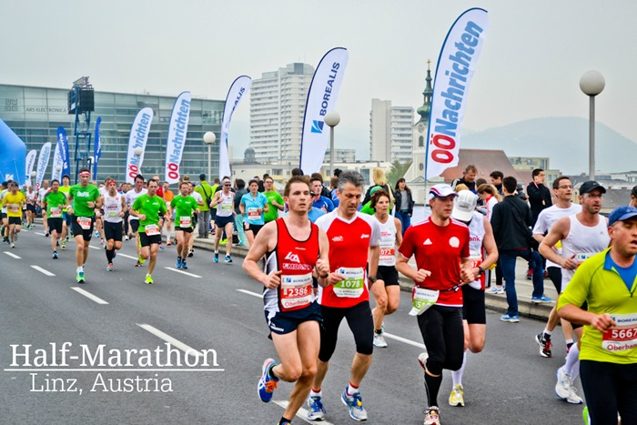 Linz Marathon with text