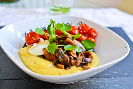 Polenta with Balsamic Mushrooms | Health Inspirations